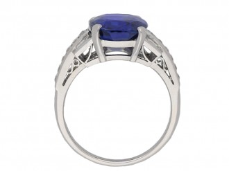 Burmese sapphire and diamond ring berganza hatton garden