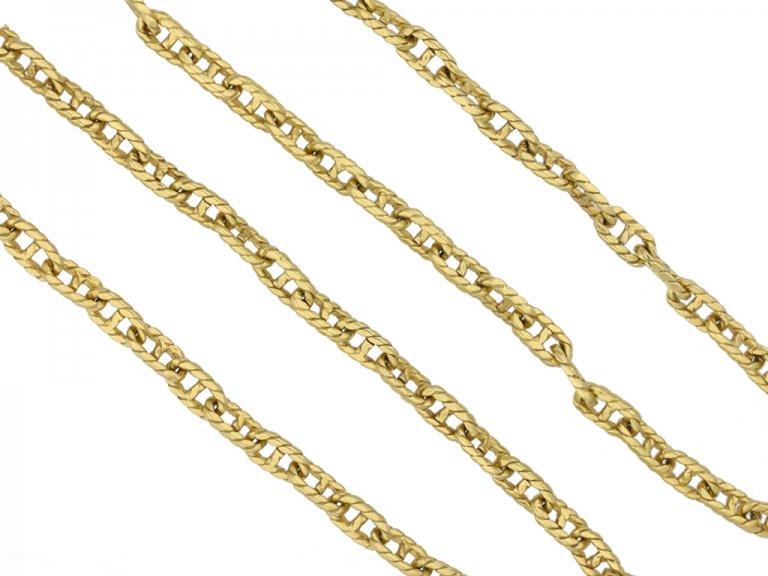 Vintage 18 carat yellow gold chain berganza hatton garden