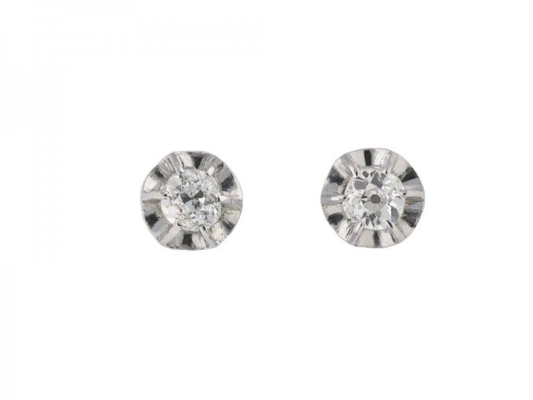 Diamond stud earrings berganza hatton garden