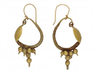 Ancient Greek Hellenistic earrings berganza hatton garden
