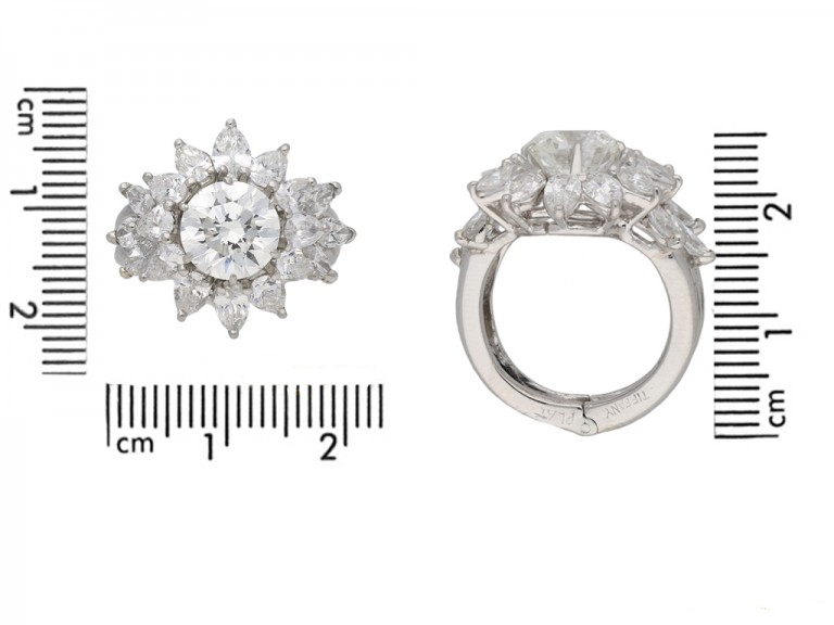 A pair of Tiffany & Co.diamond rings berganza hatton garden