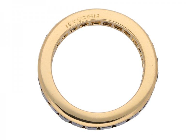 Oscar Heyman sapphire eternity ring berganza hatton garden
