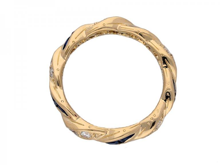 Oscar Heyman sapphire diamond ring berganza hatton garden
