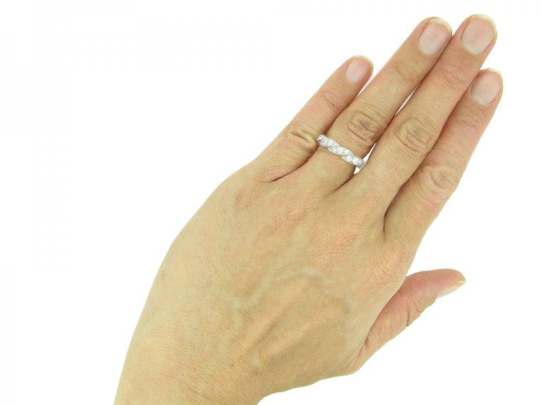 Oscar Heyman diamond twist eternity ring berganza hatton garden