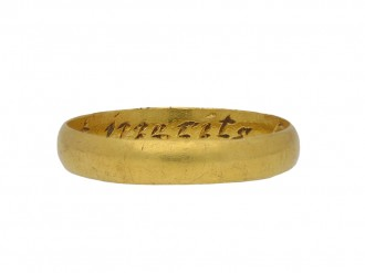Yellow gold posy ring berganza hatton garden