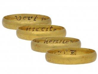 Yellow gold posy ring berganza hatton garden