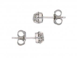 Edwardian diamond stud earrings berganza hatton garden