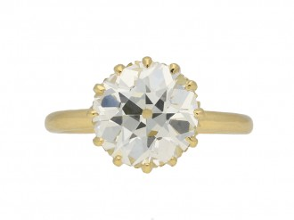 Antique diamond engagement ring berganza hatton garden