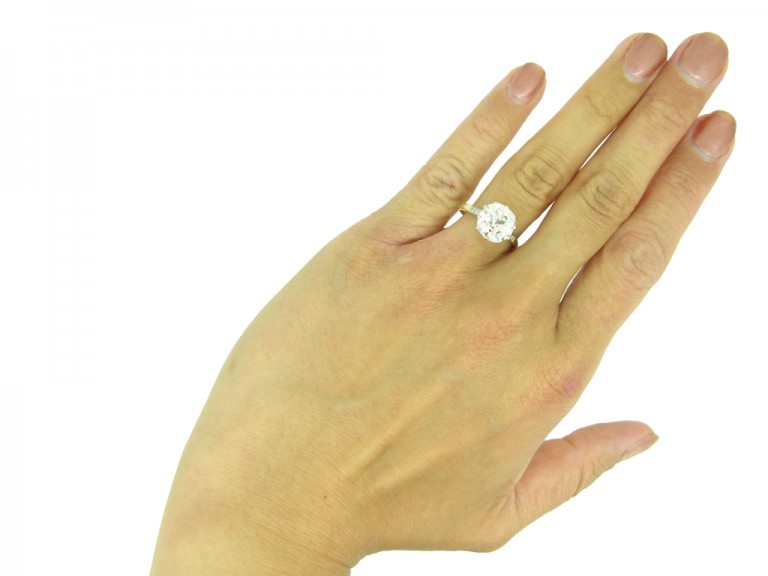 Edwardian diamond solitaire ring berganza hatton garden