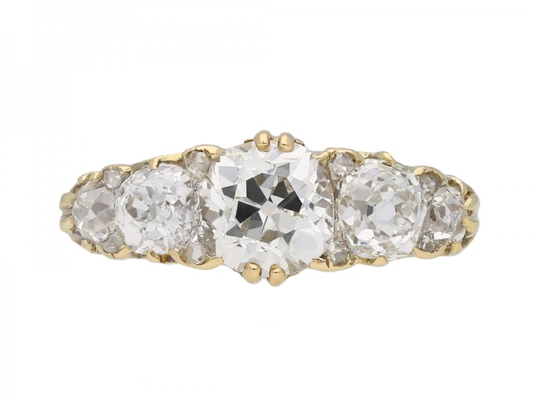 Victorian five stone diamond ring berganza hatton garden