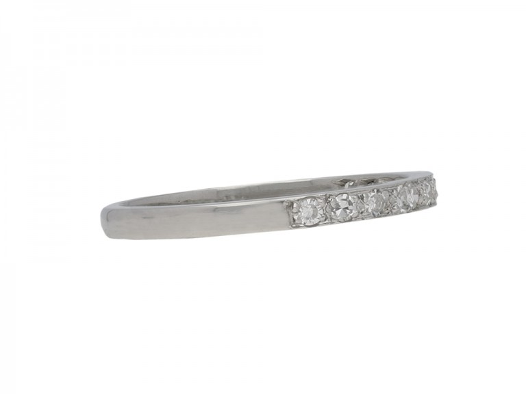 Diamond set half eternity band berganza hatton garden