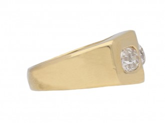 Vintage diamond three stone cocktail ring berganza hatton garden
