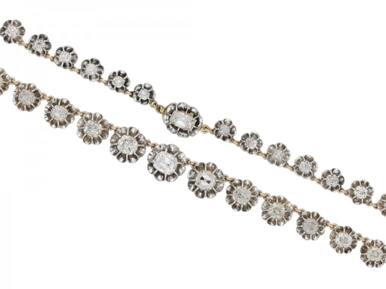 Antique diamond necklace berganza hatton garden