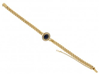 Antique sapphire and diamond bracelet berganza hatton garden