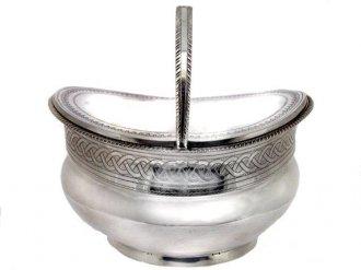Silver tea caddy dated 1808