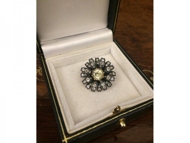 Antique diamond and enamel sash buckle