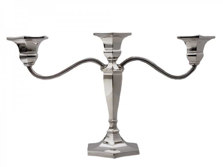A good quality sterling silver candelabra dating to 1974.