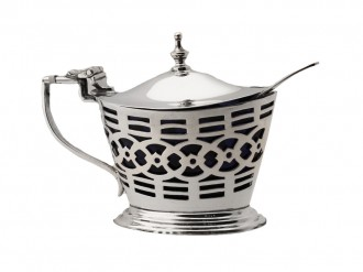 Sterling silver condiment pot