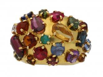 Multi stone cluster ring berganza hatton garden