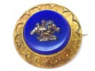 front veiw Mosaic brooch with a fine gold work,