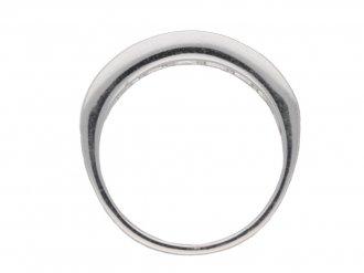 Diamond and platinum half eternity ring, circa 2003.