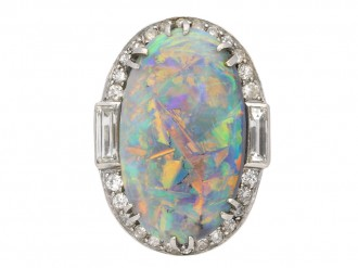 antique opal diamond ring berganza hatton garden