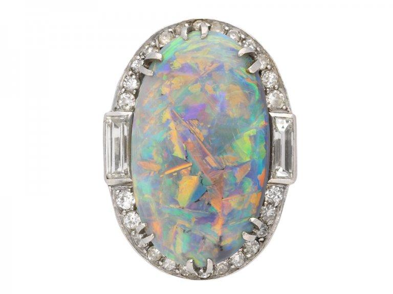 antique opal diamond ring berganza hatton garden