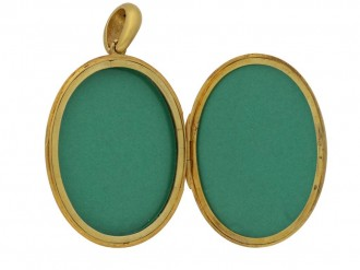 Antique yellow gold locket, circa 1900. berganza hatton garden