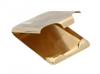 9ct yellow gold match book holder