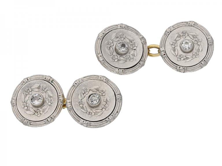 Antique diamond cufflinks berganza hatton garden