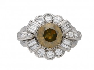 Fancy colour diamond ring berganza hatton garden