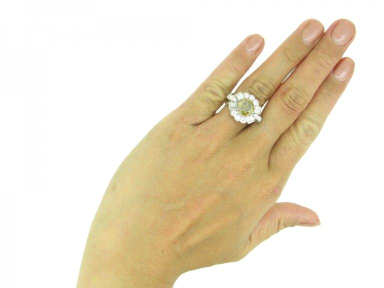 Fancy colour diamond ring berganza hatton garden