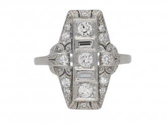 antique diamond cluster ring hatton garden berganza