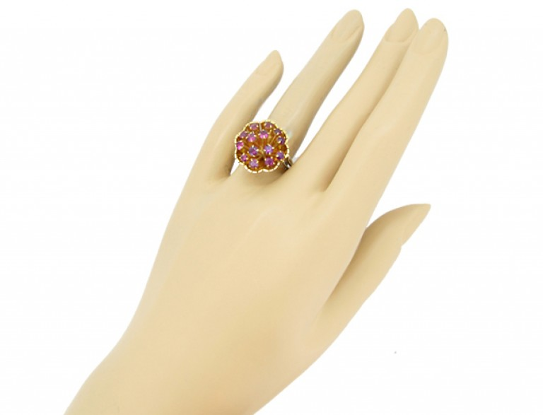 vintage dress ring ruby diamond berganza hatton garden