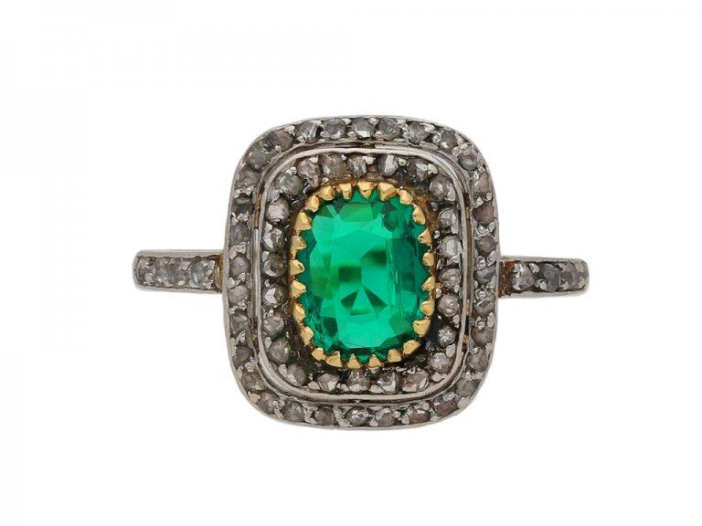 emerald diamond cluster ring berganza hatton garden