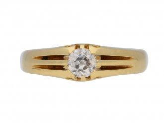 Antique Solitaire diamond ring berganza hatton garden