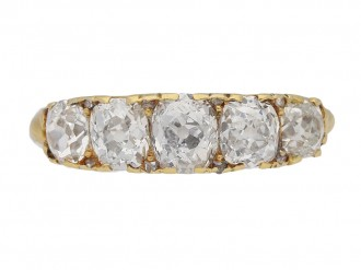 Antique diamond five stone ring berganza hatton garden