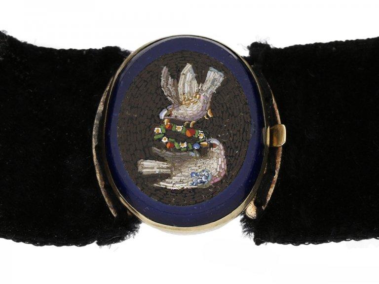 micro mosaic velvet choker hatton garden berganza