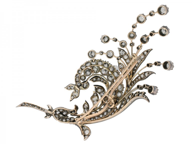 Antique diamond spray brooch, Germany, circa 1880 berganza hatton garden