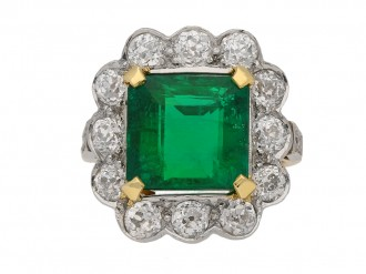 antique diamond emerald ring hatton garden berganza
