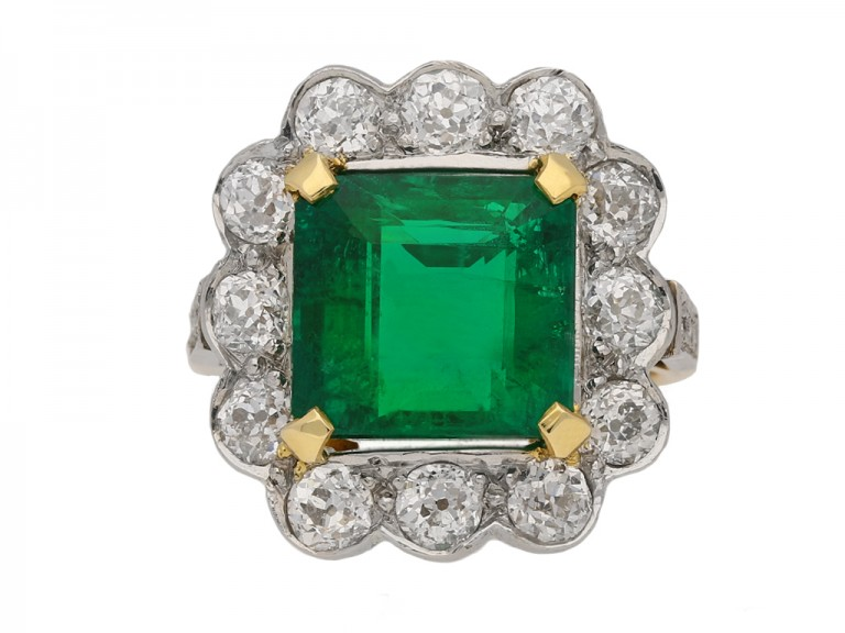 antique diamond emerald ring hatton garden berganza