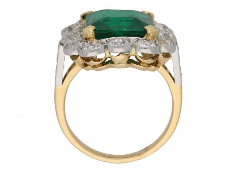 front antique diamond emerald ring hatton garden berganza
