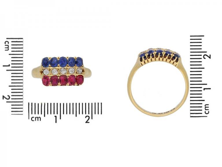 Antique ruby sapphire diamond ring berganza hatton garden