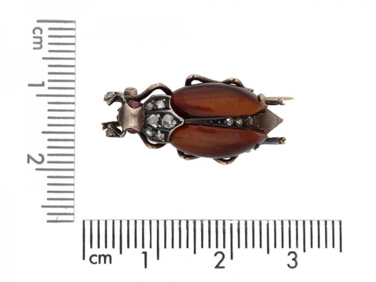 Antique Bug brooch  Diamonds brooch berganza hatton garden