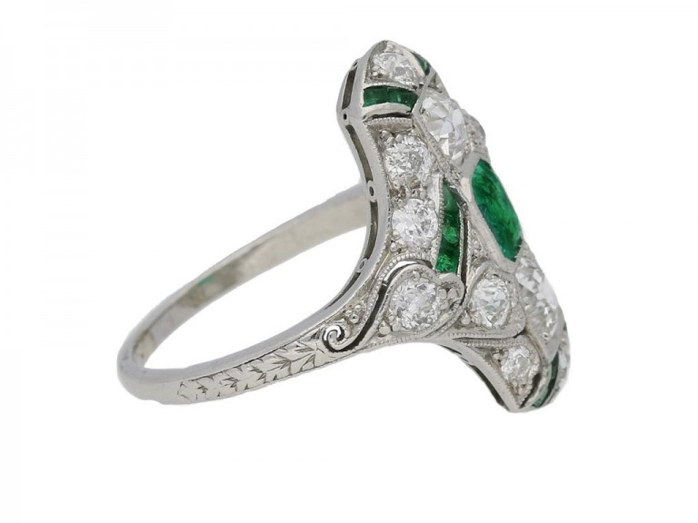 antique emerald diamond ring hatton garden berganza