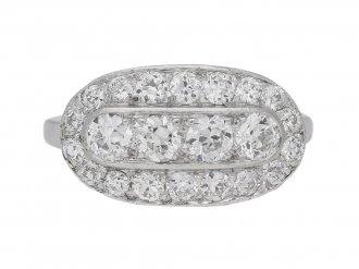 front view antique cluster diamond ring hatton garden berganza