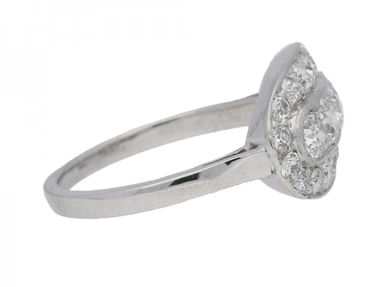 antique cluster diamond ring hatton garden berganza