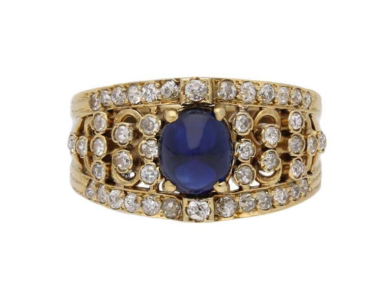 antique sapphire diamond ring berganza hatton garden