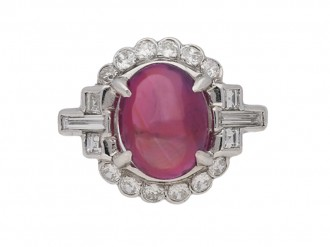 vintage diamond ruby ring berganza hatton garden