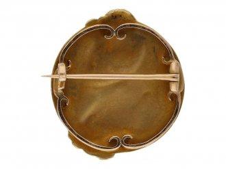 Jules Chéret Art Nouveau brooch berganza hatton garden